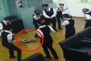 Clip: Trăn dài 2m rơi xuống từ trần nhà giữa cuộc họp của ngân hàng