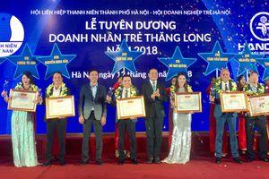 10 doanh nhân tiêu biểu được nhận Giải thưởng doanh nhân trẻ Thăng Long