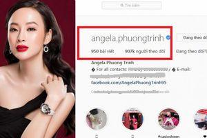 Angela Phương Trinh lo lắng vì sự cố mất Instagram hơn 900.000 người theo dõi