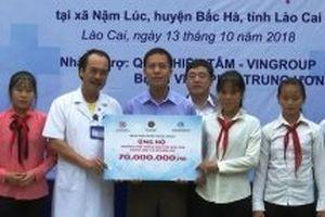 Khám bệnh và cấp thuốc miễn phí cho hơn 600 người nghèo ở Lào Cai