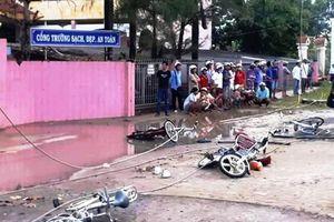 Nổ bình điện, 2 học sinh tử vong, 4 em bị thương