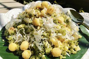 Món ngon mỗi ngày: Xôi cốm hạt sen lưu trọn hương vị mùa thu cho bữa sáng cuối tuần