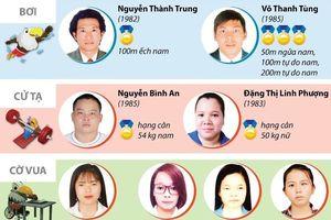Những gương mặt 'Vàng' của thể thao Việt Nam tại Asian Para Games 2018