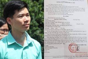 Bị can Hoàng Công Lương thất vọng nhận thêm Quyết định cấm đi khỏi nơi cư trú
