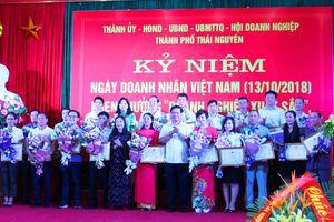 Thành phố Thái Nguyên tuyên dương, khen thưởng 'Doanh nghiệp xuất sắc', 'Doanh nhân tiêu biểu' năm 2018