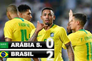 Brazil thắng nhẹ nhàng đội bóng châu Á