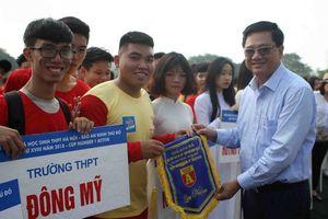 Khai mạc giải bóng đá học sinh THPT Hà Nội 2018