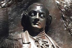 Mỹ: Không nhịn được cười khi chiêm ngưỡng 'đôi mắt mới' của bức tượng danh tướng