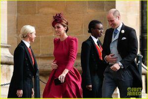 Công nương Kate suýt gặp sự cố tốc váy trong đám cưới Hoàng gia