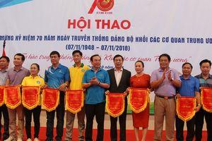 Khai mạc Hội thao chào mừng kỷ niệm 70 năm Ngày truyền thống Đảng bộ Khối các cơ quan Trung ương