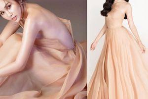 'Siêu vòng 3 Sài Gòn' hững hờ khóa váy, sexy lấn át HH Tiểu Vy khi 'đụng hàng'