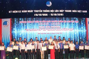 Trung ương Hội Liên hiệp Thanh niên trao giải thưởng '15 tháng 10'