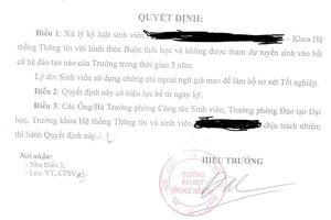 Sinh viên bị buộc thôi học và cấm thi trong 5 năm vì dùng chứng chỉ giả