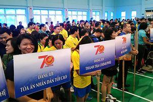 Đảng ủy TANDTC tham gia Hội thao chào mừng kỷ niệm 70 năm Ngày truyền thống Đảng bộ Khối các cơ quan TW