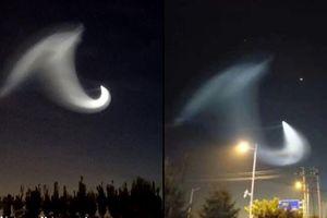 Vầng sáng bí ẩn giống UFO xuất hiện ở Trung Quốc