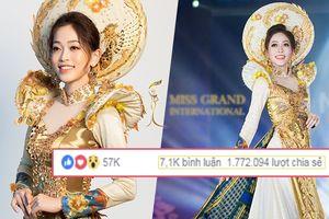Lập kỷ lục 2 triệu lượt share, Phương Nga vẫn chưa 'chắc thắng' giải Trang phục truyền thống vì lý do này!