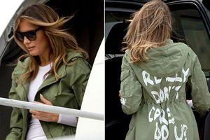 Sự thật về chiếc áo khoác in slogan sốc gây ảnh hưởng đến Nhà Trắng của bà Melania Trump