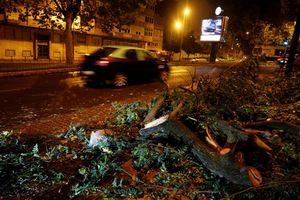 Bão Leslie tấn công Bồ Đào Nha, hàng ngàn người mất điện