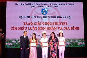 Hội Phụ nữ Công an Hà Nội đạt giải nhất cuộc thi Tìm hiểu Luật hôn nhân và gia đình