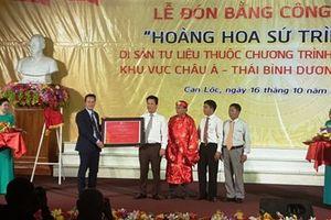 Đón bằng công nhận Di sản tư liệu ký ức thế giới 'Hoàng hoa sứ trình đồ' của UNESCO