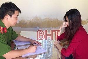 Bắt 'tú bà' đường dây 'gái gọi cao cấp' ở Hà Tĩnh