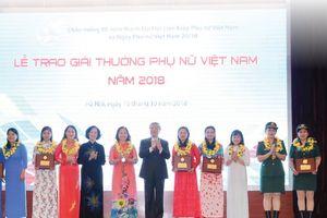 Những gương mặt nhận Giải thưởng Phụ nữ Việt Nam 2018