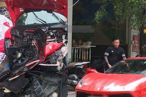 Tuấn Hưng bị tai nạn giao thông - siêu xe tan nát hết phần đầu