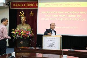 Công đoàn Ban Tuyên giáo Trung ương quyên góp ủng hộ người nghèo năm 2018
