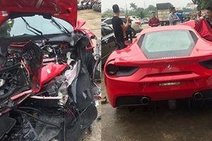 Siêu xe Ferrari 488 GTB tan nát sau tai nạn ở Việt Trì