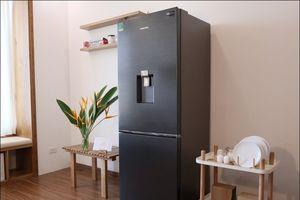 Dùng thử tủ lạnh Samsung ngăn đông dưới: Thịt cá tươi, vòi nước uống tiện dụng