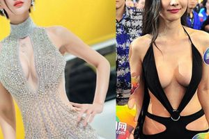 Người mẫu ô tô Trung Quốc gây bất bình vì trang phục quá hở hang
