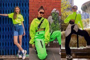 Chói sáng nhất trong bảng màu - xanh neon đẹp đến mức các fashionista Việt không thể bỏ qua