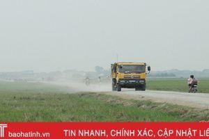 Nhiều tuyến đường ở Can Lộc xuống cấp nghiêm trọng
