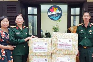 Mottainai 2018 nhận quà và tiền ủng hộ từ Lữ đoàn 86