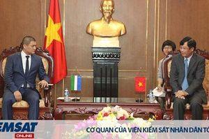Lãnh đạo VKSND tối cao tiếp xã giao Đoàn đại biểu VKS quân sự Cộng hòa Uzbekistan