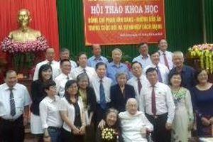 Hội thảo khoa học nhân kỷ niệm 100 năm Ngày sinh đồng chí Phan Văn Đáng