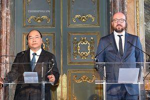 Thủ tướng Việt Nam và Thủ tướng Bỉ họp báo sau hội đàm