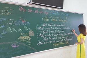 Bài dự thi viết chữ đẹp của cô giáo trường tiểu học Trưng Vương gây bão mạng