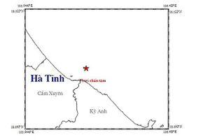 Vùng biển Kỳ Anh, Hà Tĩnh động đất 3,8 độ richter