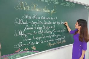 18 cô giáo Quảng Trị viết chữ đẹp như vẽ tranh