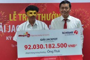 Trung bình 20 tỷ Jackpot mega 6/45 được trao mỗi tuần