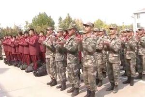 Trung Quốc lại dậy sóng với hình ảnh cầu thủ trẻ ở trại huấn luyện quân sự