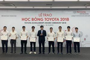 Trao học bổng Toyota 2018 cho sinh viên các trường đại học về kỹ thuật