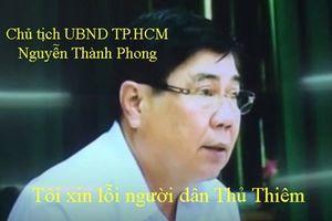 Chủ tịch Nguyễn Thành Phong: Tôi chân thành xin lỗi người dân Thủ Thiêm