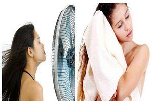 Mẹo hay giúp tóc khô nhanh mà không cần dùng máy sấy