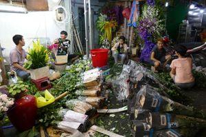 Sát thềm lễ, chợ hoa Hồ Thị Kỷ vẫn lác đác người mua