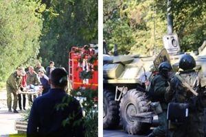 Hiện trường rợn người vụ đánh bom, xả súng tại trường học ở Crimea