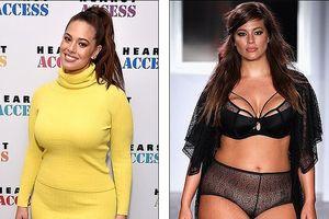 'Siêu mẫu béo' Ashley Graham giảm cân rõ rệt khi diện đầm vàng rực rỡ