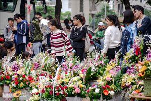 Sôi động thị trường hoa cận 20.10: Sinh viên tranh thủ đi bán hoa kiếm thêm thu nhập
