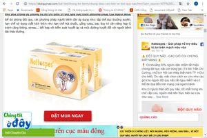 Cẩn trọng với thông tin quảng cáo thực phẩm bảo vệ sức khỏe Nattospes